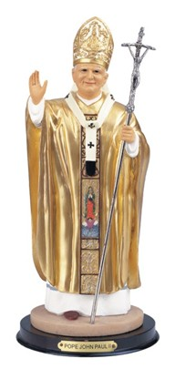 "12"" Pope John Paul II Gold 